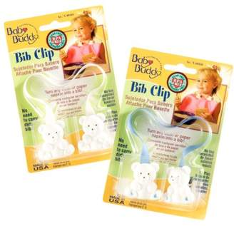 Baby Buddy Bib Clip 2ct for 0-36 months (Blue/White)