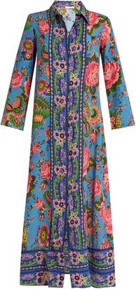 ANJUNA Camelia floral-print silk dress $640 thestylecure.com