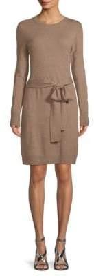 Saks Fifth Avenue BLACK Tie-Waist Knit Dress
