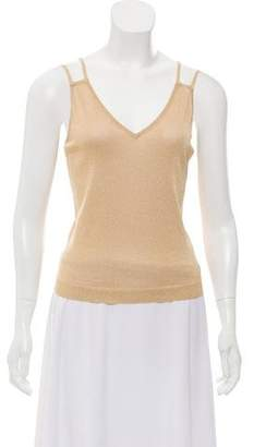 Valentino Metallic Gold Sleeveless Top