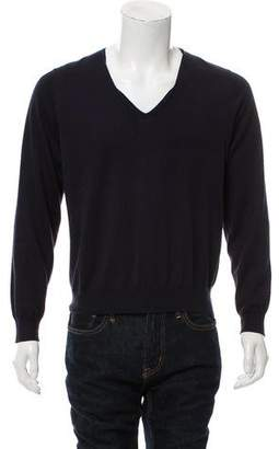 Dries Van Noten V-Neck Rib-Knit Sweater