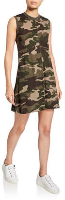 ATM Anthony Thomas Melillo Camo Slub Jersey Tank Dress