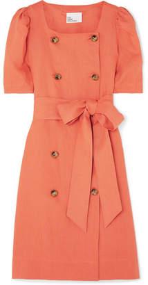 Lisa Marie Fernandez Diana Linen Midi Dress - Orange