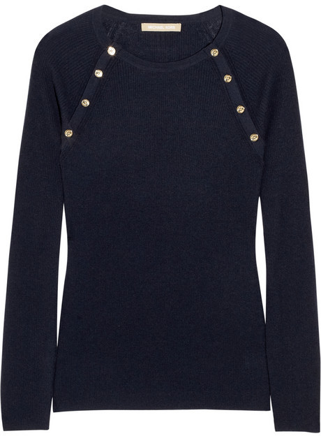 Michael Kors Fine-knit ribbed cashmere sweater