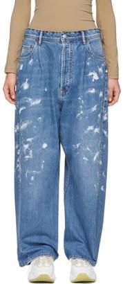 Acne Studios Blue Bla Konst Oversized Paint Jeans