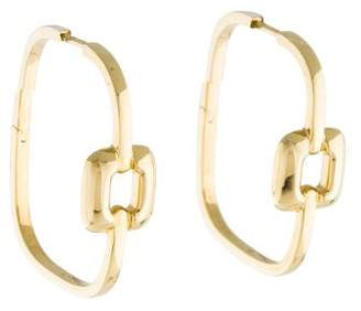 Mimi So 18K Piece Square Hoop Earrings