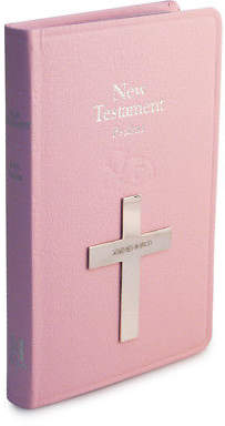 NEW Whitehill Bible New Testament Sterling Silver Pink