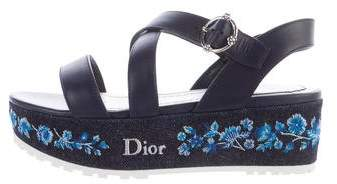 Christian Dior Prairie Denim Sandals