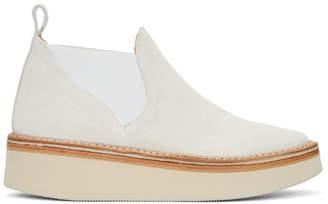Flamingos Off-White Suede Alambra Platform Boots