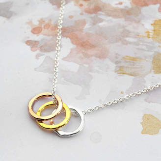73c1be2ff Martha Jackson Sterling Silver Sterling Silver Eternity Circles Necklace