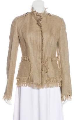 Dolce & Gabbana Linen Fringe-Trimmed Jacket