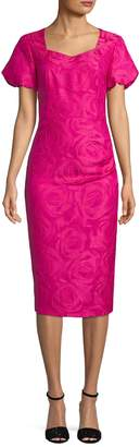 Mikael Aghal Women's Rose Print Sheath Dress