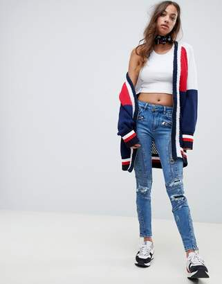2b25f0f6 Tommy Hilfiger X Gigi Hadid Venice panelled destroyed skinny jeans