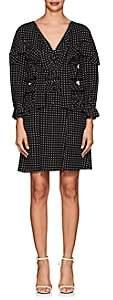 Majorelle Maison Mayle Women's Dot-Print Silk Dress - Black