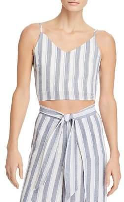 Aqua Striped Cropped Top - 100% Exclusive