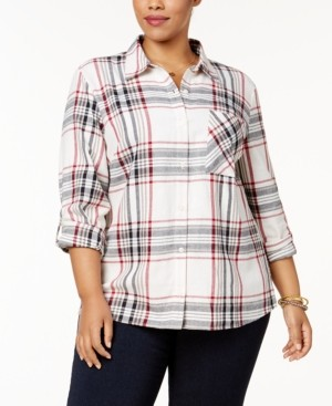 Style&Co. Style & Co Plus Size Plaid Shirt, Created for Macy's