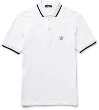 Dolce & Gabbana Slim-fit Cotton-piqué Polo Shirt