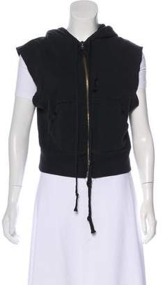 Greg Lauren Hooded Distressed Vest