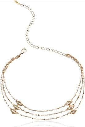 Ettika Womens Layered Chain Choker Necklace