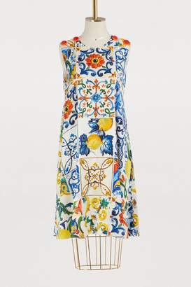 Dolce & Gabbana Majolique printed silk dress