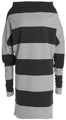 Norma Kamali Convertible Striped Stretch-Cotton Jersey Dress