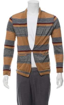 TOMORROWLAND Striped Shawl Collar Cardigan