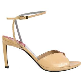 Rodolphe Menudier Beige Leather Sandals