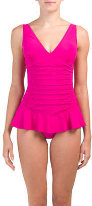 Missy V-neck One-piece Swim Dress