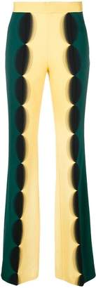 Marco De Vincenzo optical effect flared trousers