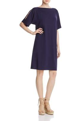 Eileen Fisher Cold Shoulder Cocoon Dress $198 thestylecure.com