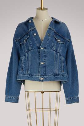 Balenciaga Swing collar denim jacket