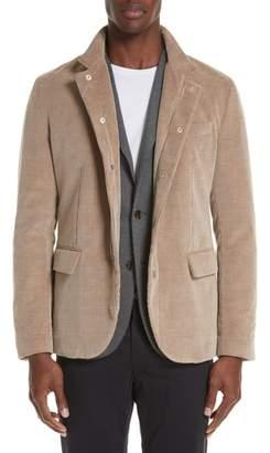 Eleventy Trim Fit Cotton & Cashmere Corduroy Jacket