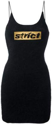 Alexander Wang strict embroidered knit mini dress