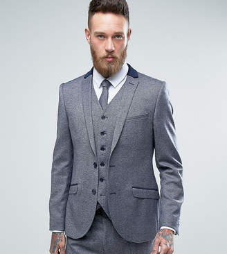 Heart & Dagger Skinny Suit Jacket In Tweed