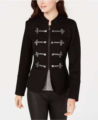 XOXO Juniors' Military Peplum Jacket