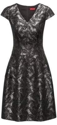 HUGO Boss Patterned Jaquard Dress Konelly 4 Black