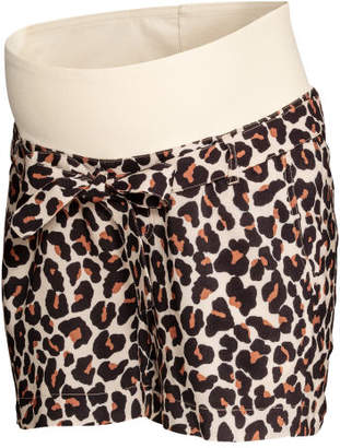 H&M MAMA Patterned Shorts - Beige