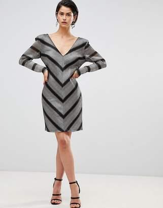 Forever Unique Chevron Shift Dress