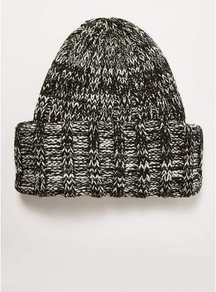 b96042a51bc Topman Mens Grey Black And White Oversized Beanie