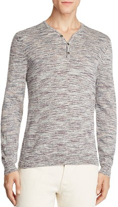 John Varvatos Star USA Melange Knit Henley Sweater - 100% Exclusive $198 thestylecure.com
