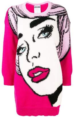 Moschino pop art knitted dress
