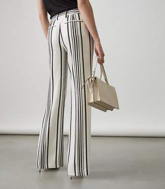Reiss Rodeo Trouser WIDE LEG TROUSERS White/black