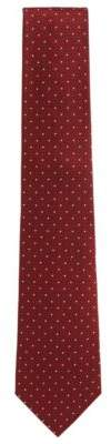 BOSS Hugo  Tailored Polka Dot Dobby Italian Silk Tie One Size Red