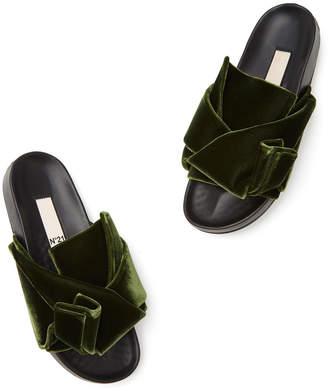 No.21 No. 21 Velvet Slide Sandals