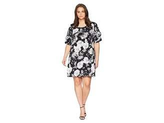 Karen Kane Plus Plus Size Ruffle Sleeve Dress Women's Dress