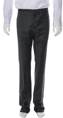 Maison Margiela Wool Flat Front Dress Pants