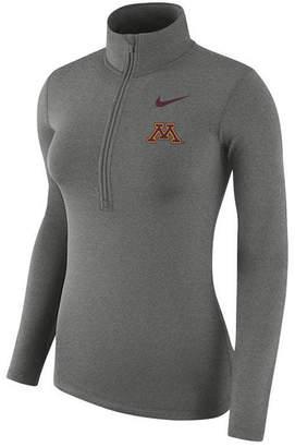 Nike Women's Minnesota Golden Gophers Hyperwarm Quarter-Zip Pullover