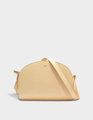 A.P.C. Demi Lune Bag in Beige Naturel Smooth Leather