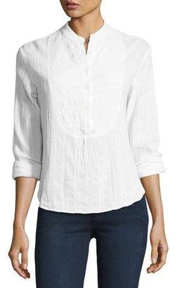 Derek Lam 10 Crosby Gauze Tuxedo Shirt, White $185 thestylecure.com