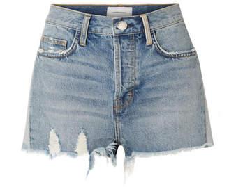 Current/Elliott The Ultra High Waist Distressed Denim Shorts - Mid denim